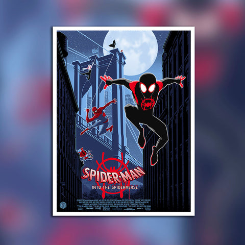 Behind the Scenes: Illustrating a Spider-Man: Into the Spider-Verse poster with artist Brian Miller
