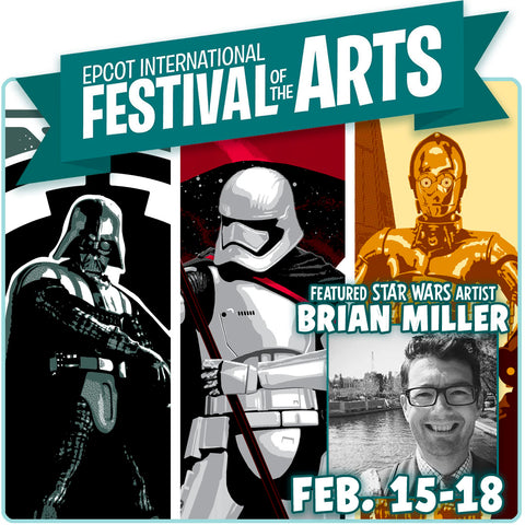 Star Wars artist Brian Miller will be appearing at the third annual EPCOT International Festival of the Arts