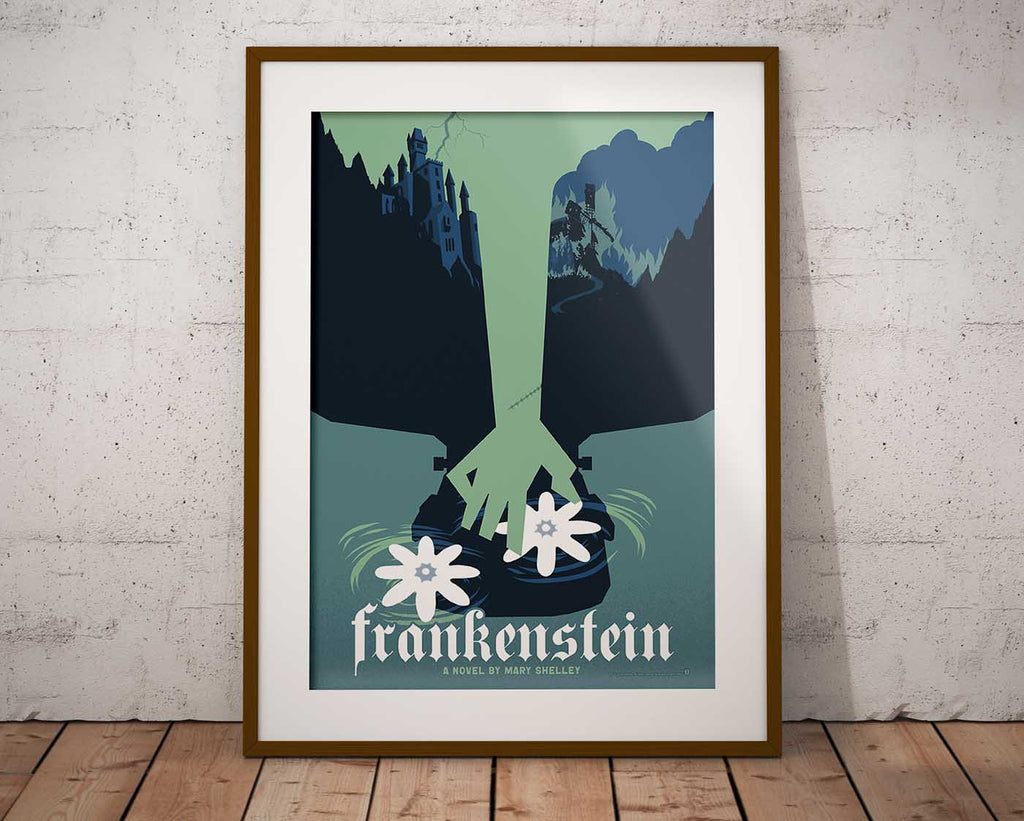 Framed Frankenstein poster art