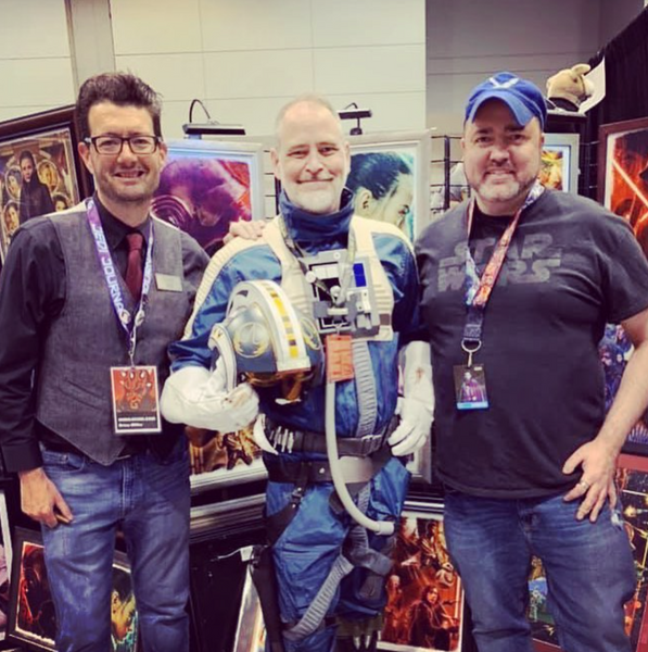 Star Wars artists Brian Miller and Joe Corroney at Star Wars Celebration