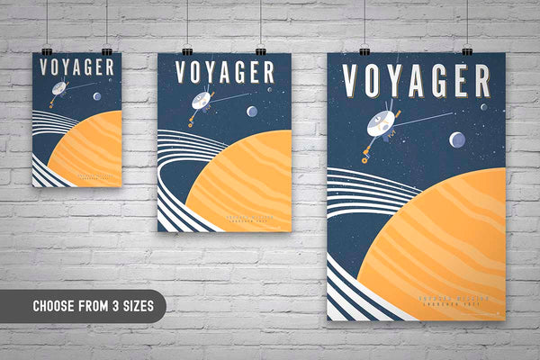 space exploration artwork by brian miller inspired by nasa voyager mission featuring saturn neptune voyager saturns rings and outer space