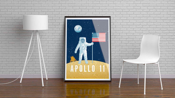Apollo 11 — 50th Anniversary Space Exploration Fine-Art Print - Oktopolis - Print
