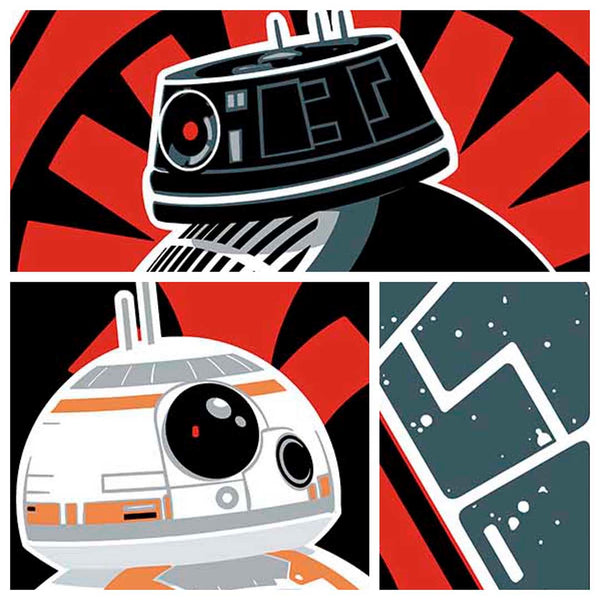 "Details from ""BB-8 & BB-9E"" is one in a series of collectable STAR WARS illustrations by artist Brian Miller. You can be among the first to add this officially licensed Star Wars artwork to your collection."