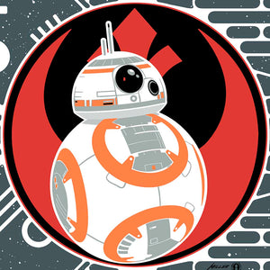 STAR WARS: BB-8 and BB-9E Art Nouveau Fine-Art Print