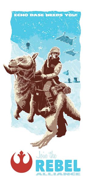 "Relieve the excitement of The Empire Strikes Back every time you gaze upon this limited edition artwork in your home. ""Echo Base Needs You"" is one in a series of collectable STAR WARS illustrations by artist Brian Miller. You can be among the first to add this officially licensed Star Wars artwork to your collection."