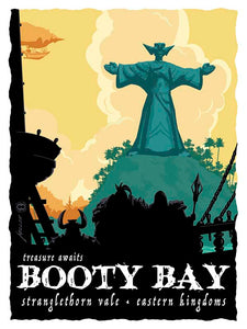 Booty bay Officially licensed by Blizzard Entertainment in cooperation with Acme Archives, the Main Edition of this Brian Miller print is available in limited quantity.