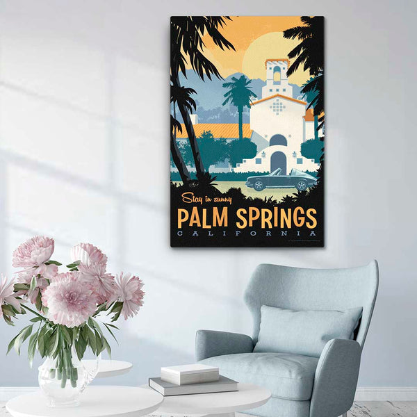 Palm Springs - Fine-Art Canvas - Oktopolis - Canvas