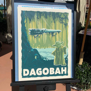 STAR WARS: Destination Dagobah Fine-Art Print - Oktopolis - Silkscreen Art Print