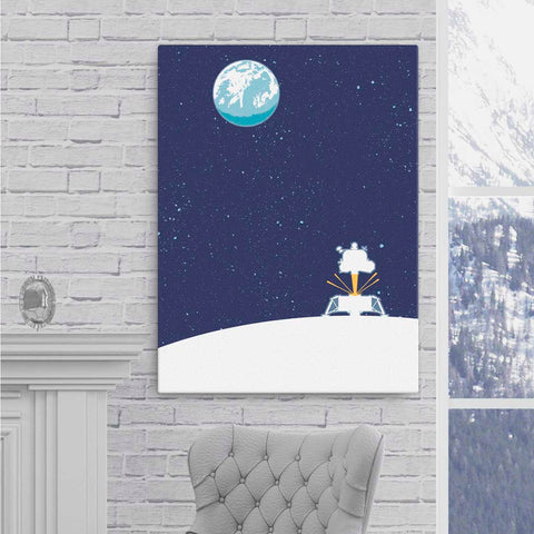 Apollo Lunar Module - Fine-Art Canvas - Oktopolis - Canvas