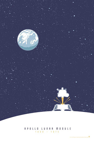 Apollo Lunar Module - Space Exploration Fine-Art Print - Oktopolis - Print
