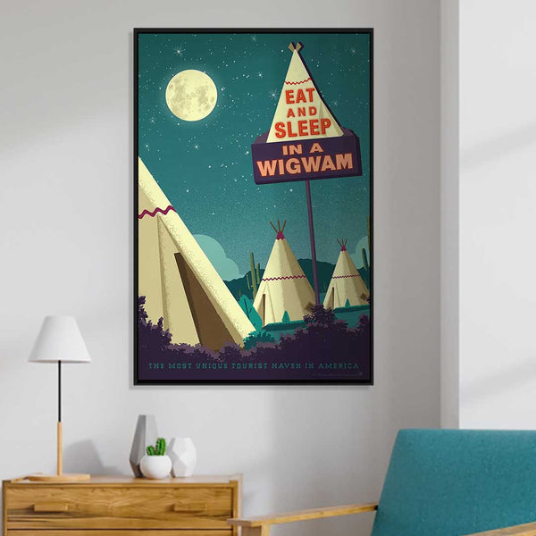 Wigwam Village — Vintage Travel Style Art Print