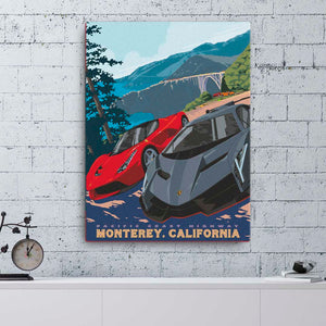 Monterey California — Fine Art Canvas - Oktopolis - Canvas