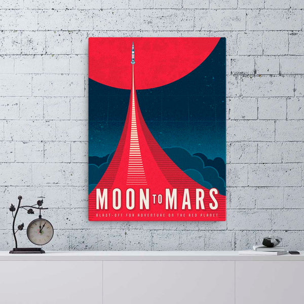 Moon to Mars — Fine-Art Canvas