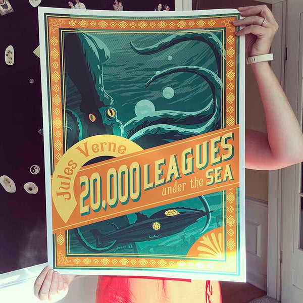 20,000 Leagues Under the Sea —  Fine-Art Print - Oktopolis - Silkscreen Art Print