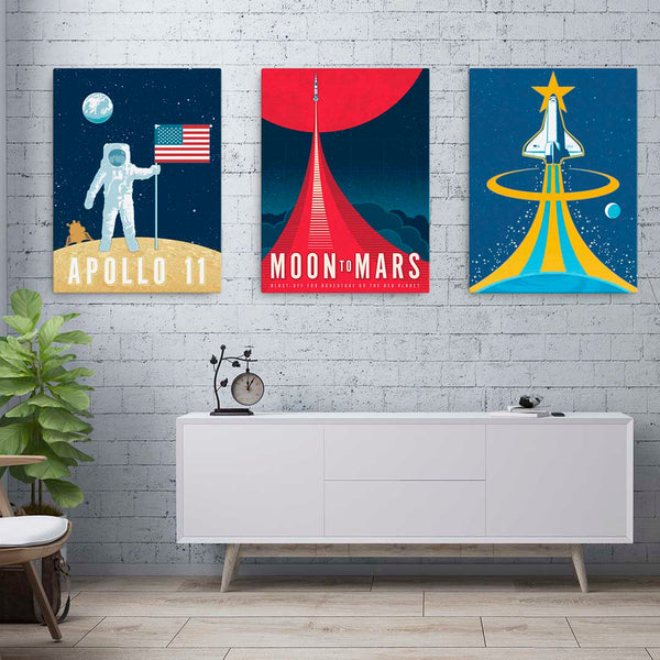 Apollo 11 — Fine-Art Canvas - Oktopolis - Canvas