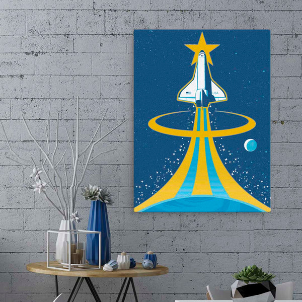 Space Shuttle - Fine-Art Canvas - Oktopolis - Canvas