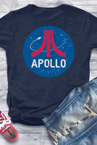 Retro style Apollo t-shirt design by artist Brian Miller, t-shirt for men & women available exclusively from Oktopolis.com