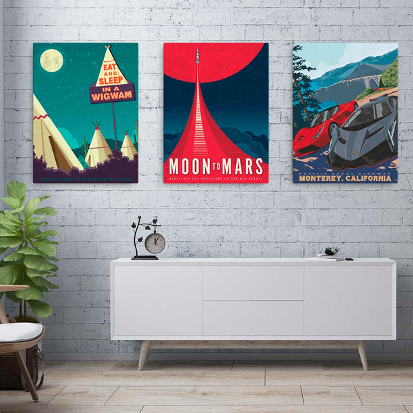 Wigwam Village — Fine-Art Canvas
