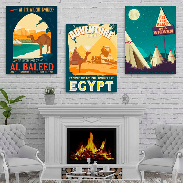 Ancient Wonders of Egypt - Fine-Art Canvas
