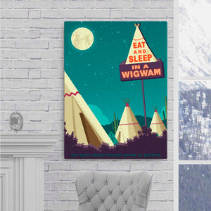 Wigwam Village — Fine-Art Canvas - Oktopolis - Canvas
