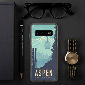 This beautiful Phone case of Aspen, Colorado is illustrated by artist: Brian Miller (Star Wars, The X-Files, Doctor Who) and available exclusively from Oktopolis.