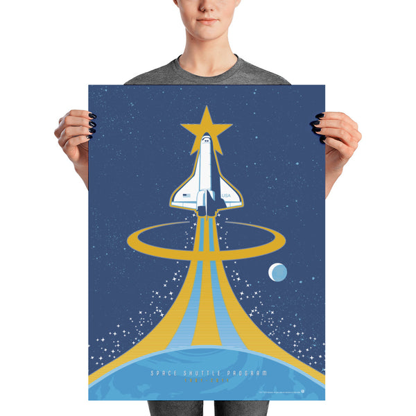 NASA Space Shuttle program united states Space Exploration Poster wall art