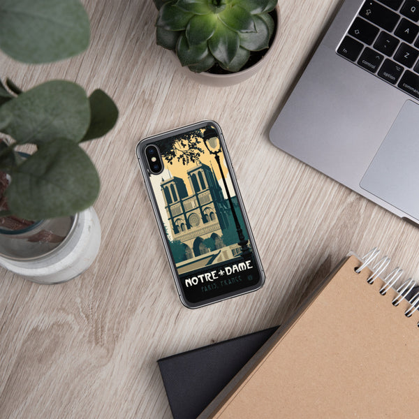 Take a bit of Paris with you every day when you add this Notre Dame case to your iPhone. Notre-Dame illustration by artist Brian Miller (Star Wars, The X-Files, Doctor Who) available exclusively from Oktopolis.
