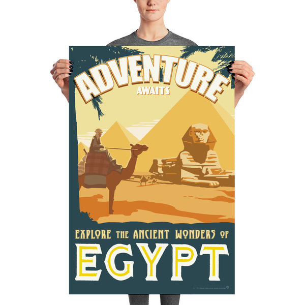 Ancient Wonders of Egypt - Exotic Travel Art Print - Oktopolis - Print