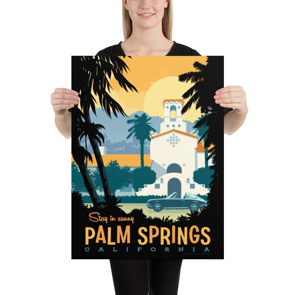 Small size: This Museum-quality art print of Palm Springs is illustrated by artist: Brian Miller (Star Wars, The X-Files, Doctor Who) and produced on heavy matte, acid-free, archival paper.