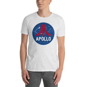 Retro style Apollo t-shirt design by artist Brian Miller, Men's t-shirt available exclusively from Oktopolis.com