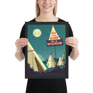 Wigwam Village — Framed Art Print