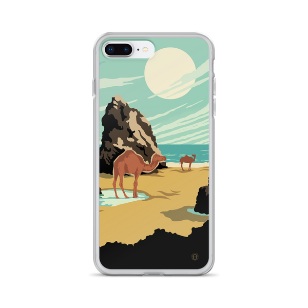 Camels on the beach case for iPhone created by artist: Brian Miller (Star Wars, The X-Files, Doctor Who) and is available exclusively from Oktopolis.