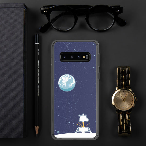 Samsung Galaxy Phone case featuring Apollo Lunar Module illustration by artist Brian Miller (Star Wars, The X-Files, Doctor Who) available exclusively from Oktopolis.