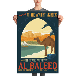 Ancient Ruins of Al Baleed - Exotic Travel Art Print - Oktopolis - Print