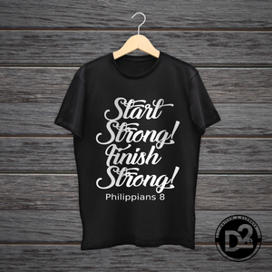 Start Strong Finish Strong short sleeve tee (black)