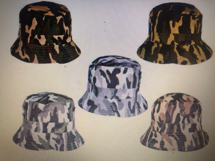 Camouflage Bucket Hat W/ Pocket (5 variety color)