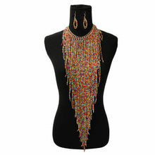 Load image into Gallery viewer, FRINGE CHOKER SET MULTI-COLOR