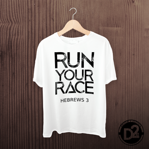 Run Your Race White tee