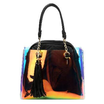 Tote and Black Leather Bag