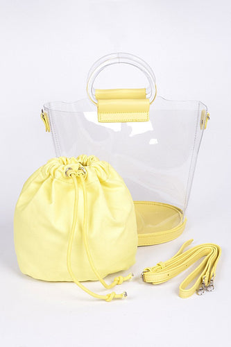 CLEAR HANDBAGS [5 color variety]