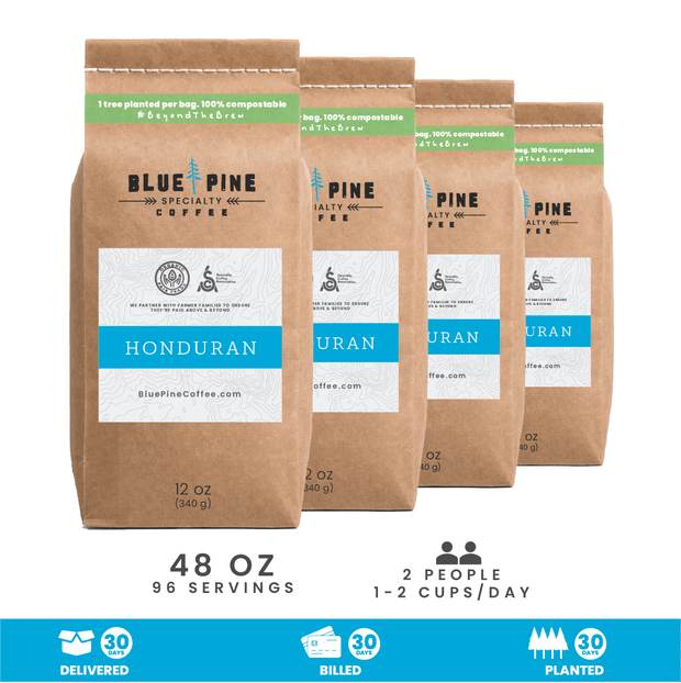 Honduran Single Origin Specialty Coffee | Billed Monthly