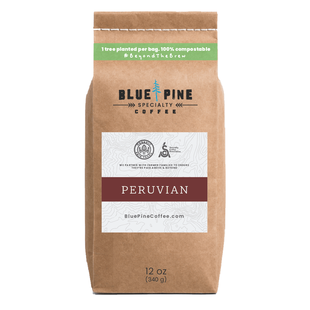 12 oz - Peruvian - Single Origin, Specialty Coffee, Organic, Fair Trade