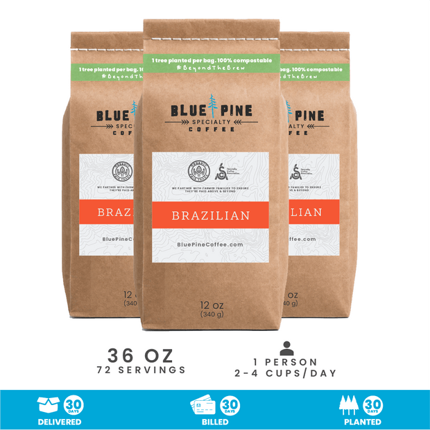 Brazilian Single Origin Specialty Coffee | Billed Monthly