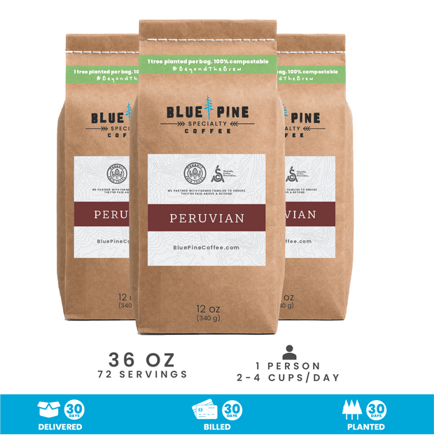 Peruvian Single Origin Specialty Coffee | Billed Monthly