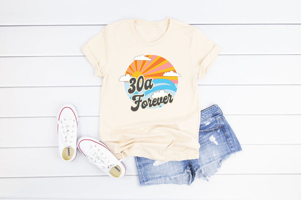 30A Forever Vintage White Tee