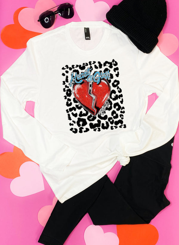 Heart of Glass Leopard Graphic Tee