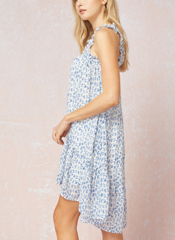 Samantha Smocked Petite Print Dress
