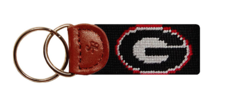 Georgia Bulldogs Needlepoint Key Fob