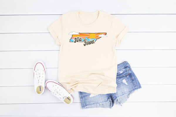 TENNESSEE 30A Forever Vintage White Tee