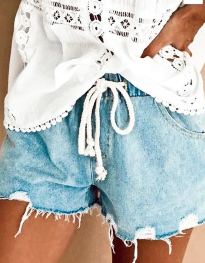 Olivia Distressed Denim Short